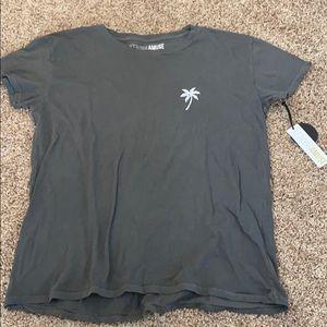 Amuse Society Palm Tree T-Shirt Medium